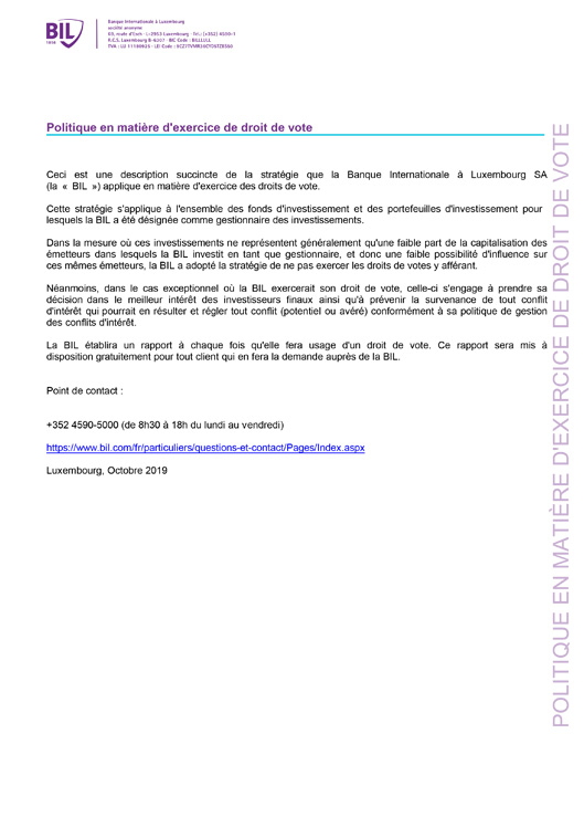 Legal Documentation Banque Internationale A Luxembourg