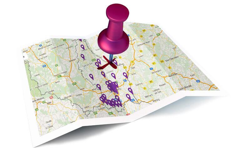 Répartition géographique des agences BIL