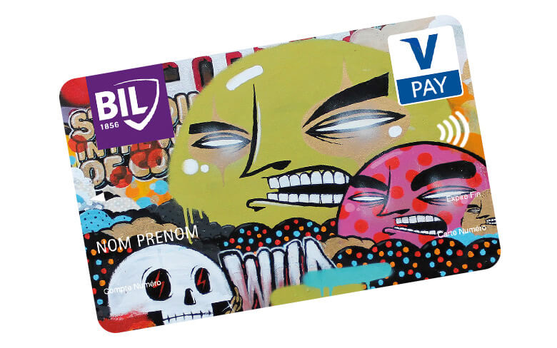 Visuel d'une carte V PAY Grafitti