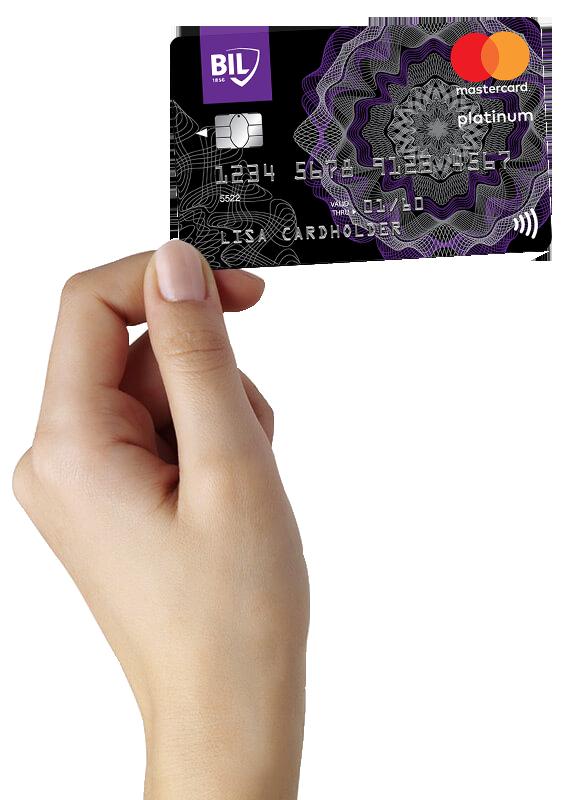 Visuel carte de crédit Mastercard Platinum
